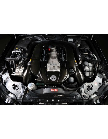 Carbonio Full Carbon Intake Kit W/ Cover and Tubes for E and CLS class