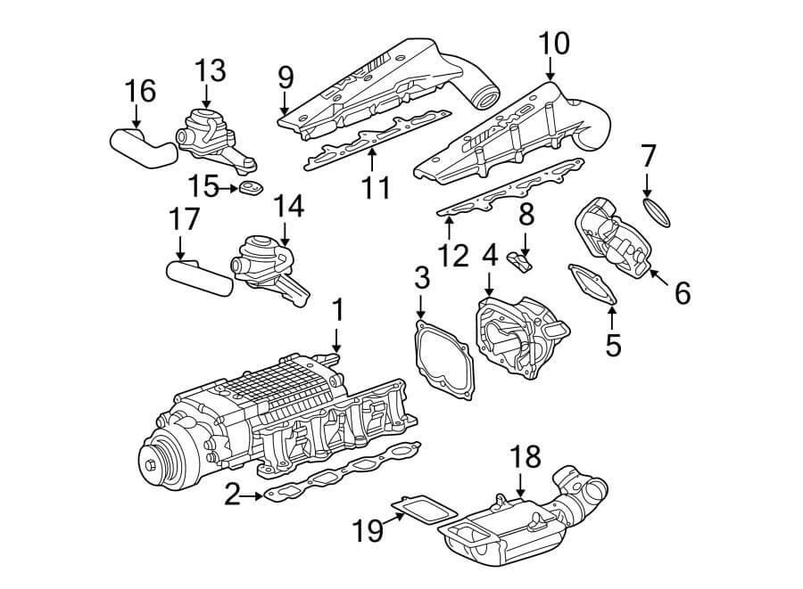 M113 Intake Manifold Gasket